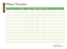 Print This Free Garden Planner: Plant Tracker Printable