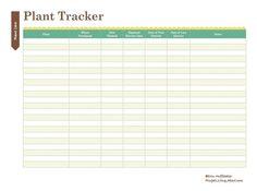 Print This Free Garden Planner: Plant Tracker Printable
