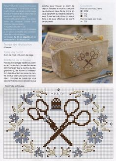 sewing, scissors and thimble free cross stitch pattern costurero Cross Stitch Borders, Cross Stitch Samplers, Cross Stitch Charts, Cross Stitch Designs, Cross Stitching, Cross Stitch Embroidery, Embroidery Patterns, Cross Stitch Patterns, Hand Embroidery