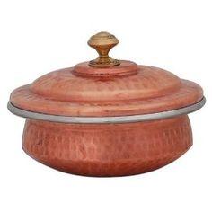 Ustensile de cuisson en cuivre - Kadhai indien avec couvercle [Diam: 12.7 cm]: Amazon.fr: Cuisine & Maison