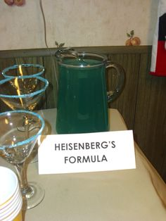 Heisenberg's Formula- The purest drink at the party!