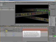 AfterEffects Video Tutorial - Billboard Text Banner - Ticker