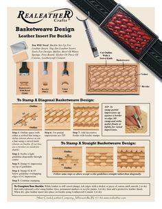 Click here for printable PDF file: Buckle with Basketweave Design: PX005, PB013, V400