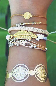 Bobo layered bracelets