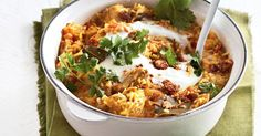 This rich creamy biryani is full of spicy flavour. Begin this recipe a day ahead.