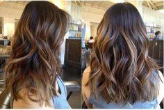 wavy brunette hair.