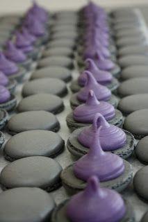 Licorice & Violet Macarons