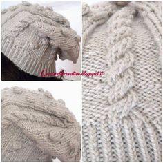 Caldo cappello di lana realizzato a maglia / ferri, realizzato a mano, idea regalo, tutorial nel blog, per informazioni  ⇨ http://coccinellecreative.blogspot.it/2014/01/cappello-realizzato-maglia-ferri-fatto.html