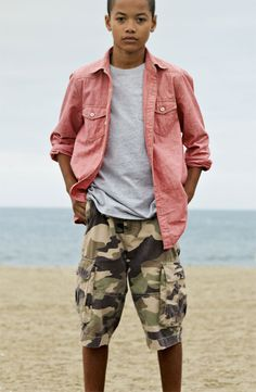 Tucker + Tate: Camo and Red Denim for boys: Photo from Nordstrom: Look 150
