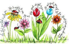 BUGS-Lady Bug Parade 5x7 Print