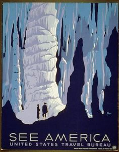 See America. Alexander Dux, artist. NYC : Works Progress Administration Federal Art Project, ~1936-1939. Work Projects Administration Poster Collection (Library of Congress).