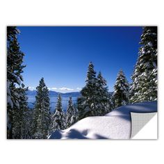 ArtApeelz 'Lake Tahoe in Winter' by Kathy Yates Photographic Print Removable Wall Decal