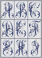 Monograms A, B, C, D, E, F, G, H, I