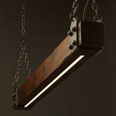 Wood Timber Lumber Beam LED Pendant Light No.1 Wooden Chandelier Main