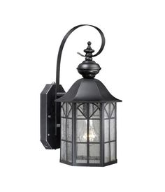 Vaxcel Lighting SR53128 Tudor 1 Light Dualux™ Outdoor Wall Sconce with Photocell Oil Rubbed Bronze Outdoor Lighting Wall Sconces Outdoor Wall Sconces