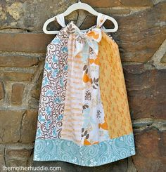 Pieced pillow case dress (would be great to repurpose old clothes for this!)