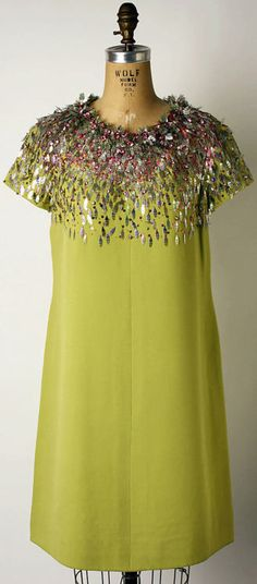 Cocktail Dress  Marc Bohan for Dior, 1966  The Metropolitan Museum of Art