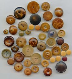 Lot of antique vegetable ivory buttons..available in my ecrater store