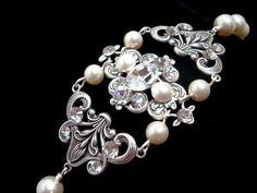 Bridal bracelet vintage style bracelet with by treasures570, $60.00