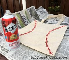 Cover table when using Scotchgard fabric protector | DuctTapeAndDenim.com
