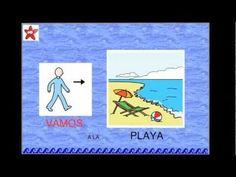 """""""VAMOS A LA PLAYA"""" canción con pictogramas"""