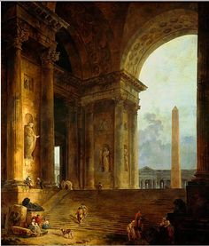 The Obelisk, Hubert Robert 1787
