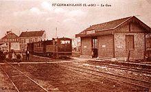 Gare de Saint-Germain-Laxis vers 1935.