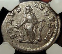 NGC XF 5/5. Elagabalus .Rare Roman silver Denarius.Salus feeds SNAKE in Coins & Paper Money, Coins: Ancient, Roman: Imperial (27 BC-476 AD)   eBay