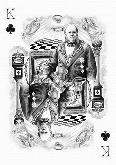 Playing cards designed by the American artistKyleStephenHudson.©KyleStephenHudson [KyleStephenHudson's gallery on DeviantART] All pictures are clickable Ace of Spades – The Fishwives…