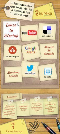 8 herramientas para localizar futuros clientes #infografia