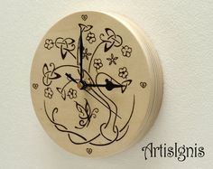 Celtic Tree of Life and Butterfly Wall Clock by ArtisIgnis on Etsy