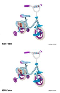 bicycles: Frozen 10 Inches Girls Kids Bike Bicycle With Training Pedal BUY IT NOW ONLY: $37.57