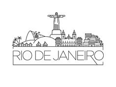 Rio de Janeiro Skyline designed by Kürşat Ünsal. Connect with them on Dribbble; the global community for designers and creative professionals. Art Sketches, Art Drawings, Travel Doodles, City Sketch, City Drawing, Skyline Design, Travel Scrapbook, City Art, String Art