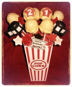 Movie-Themed Birthday Cake Pop Bouquet