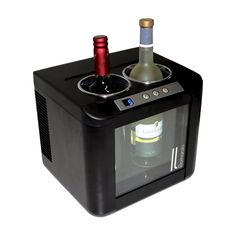 Vinotemp 2-Bottle Thermoelectric Wine Cooler - Black IL-OW002