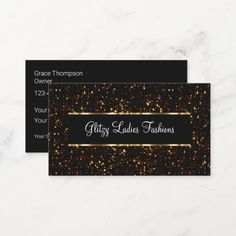 Glassy Glitzy Fashion Business Card Template Handy business cards template in a unique colorful design that has a splash of class. #Artist Fashion Business Cards, Colorful, Templates, Artist, Unique, Design, Stencils, Artists