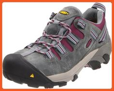 KEEN Utility Women's Detroit Low Steel Toe Work Shoe,Monument/Amaranth,8 M US - Work and saftey shoes for women (*Amazon Partner-Link)
