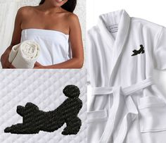 Poodle Day Robe and Wrap