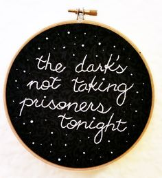 "Ode to Sleep - 6"" Twenty One Pilots Lyrics Embroidery by OvercastVintagePDX on Etsy https://www.etsy.com/listing/246029626/ode-to-sleep-6-twenty-one-pilots-lyrics"