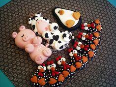 Imã Porco,vaca,pinguim e galinhas