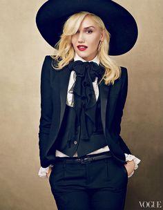 Hedi Slimane dressing Gwen Stefani for VOGUE Cover. Cool!