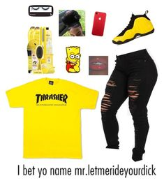 """Thrasher ✨✨"" by ashlenqueen ❤ liked on Polyvore featuring NIKE, BBrowBar and thrasher"