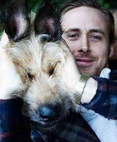 Ryan and his dog George. :)