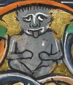 "Detail from ""The Rutland Psalter"", medieval (c1260), British Library Add MS 62925. f 82v"