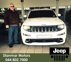 Congratulations to Mr Charles van Niekerk on purchasing a brand new #Jeep Grand Cherokee SRT. We thank you and happy adventures ahead from #TeamStanmar. Sold by Alred - 044 802 7000.