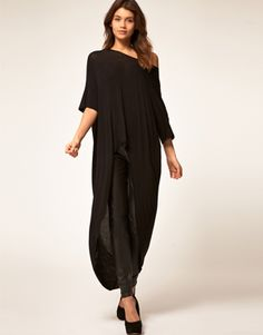 Top With Slouchy Extreme Dip Back