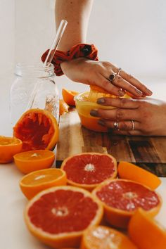 #scrunchie #hands #orange #juice #healthy #kitchen #ring #jewelery #lockstoffstore Orange Juice, Scrunchies, Grapefruit, Jewelery, Hands, Ring, Healthy, Kitchen, Food