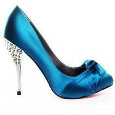 Shine - blue - bows - heels....... 4 benefits