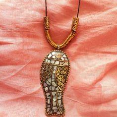 fish mosaic necklace Jewelry-Aliff Lailaa