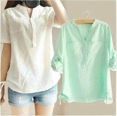 modelos de blusas de lino - Buscar con Google